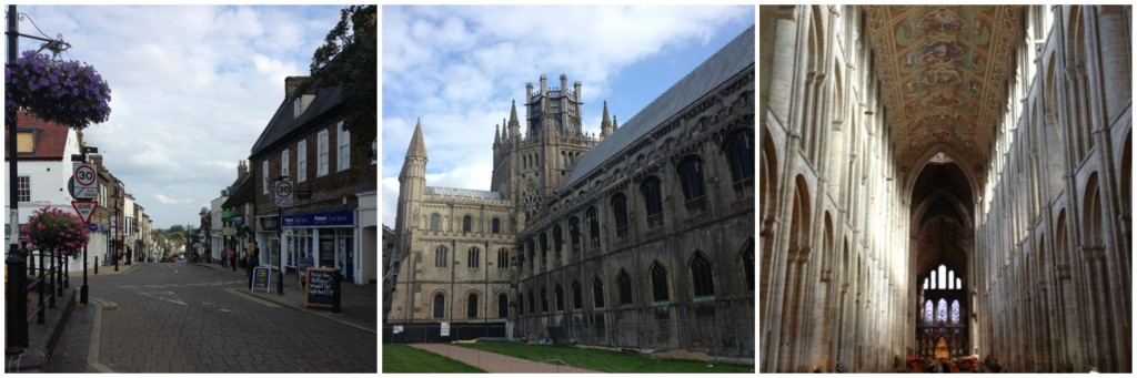 Along the street where I went busking, the massive Ely Cathedral with the famous wooden octagon, and view from inside.