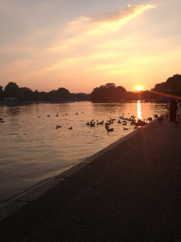 Sunset over the Serpentine Lake