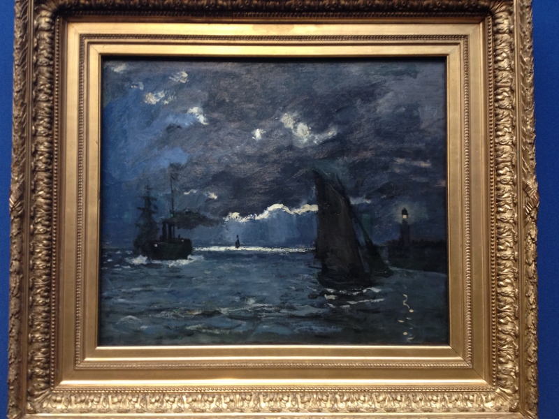 Monet - A Seascape by Moonlight