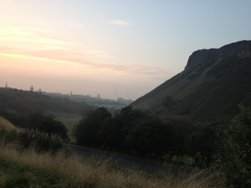 Sunset along the crags