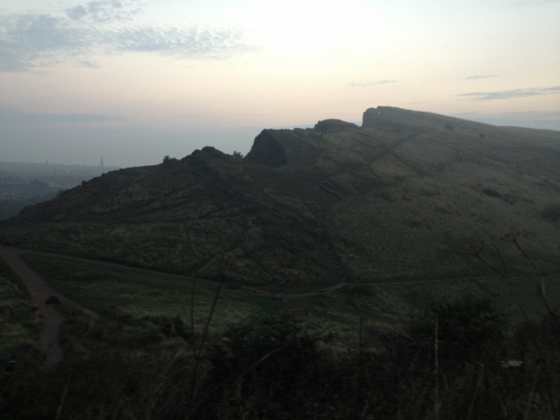 I snatched this shot over the crags about halfway up Arthur's Seat