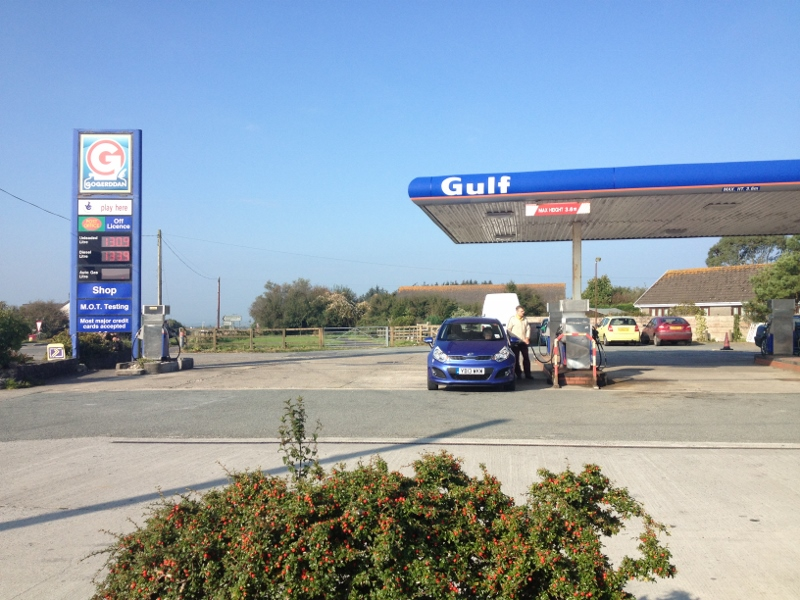 Zoe and Robin's well-appointed petrol station
