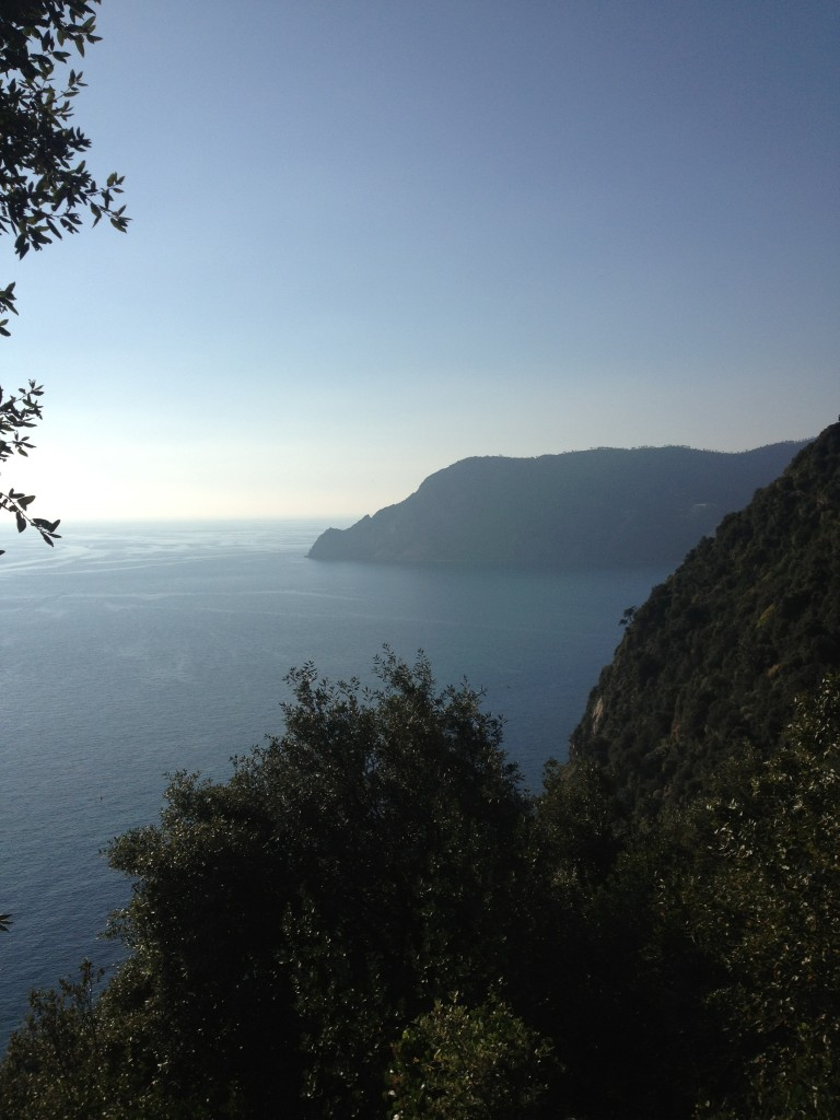 Looking back towards Monterosso